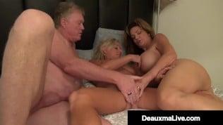 Seksi matorka deli muza sa prijateljicom